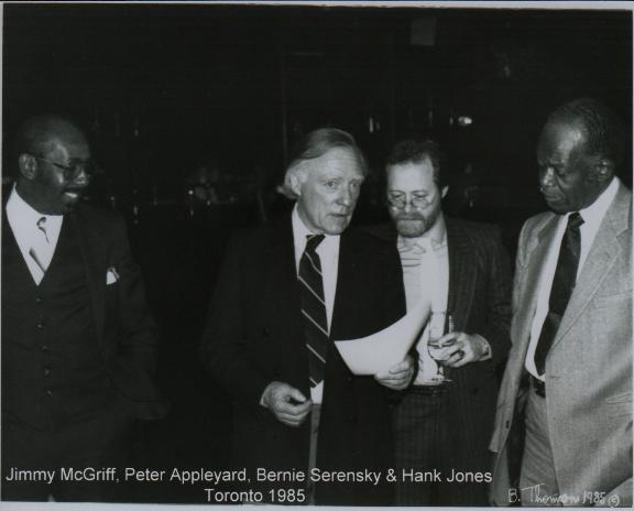 Jimmy McGriff, Peter Aplleyard, Bernie Serensky & Hank Jones